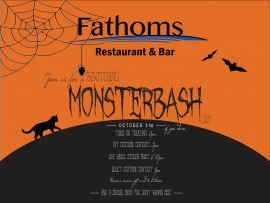 Halloween Monsterbash at Fathoms Restaurant & Bar